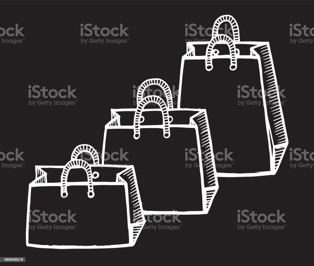 購物袋隔離組。向量圖的素描樣式。-圖袋、 繪圖-活動,油墨,互聯網,製造物件 免版稅 購物袋隔離組向量圖的素描樣式圖袋 繪圖活動油墨互聯網製造物件 向量插圖及更多 互聯網 圖片