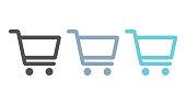 Set of shopping cart icons, vector design