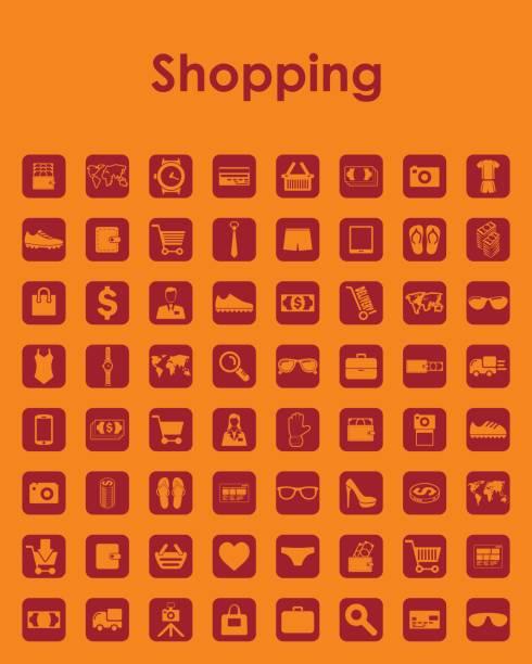 satz von shopping einfache symbole - swag stock-grafiken, -clipart, -cartoons und -symbole