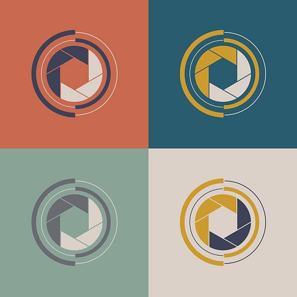 Set of shutter icon. Set of shutter icon. Vector shutter logo sign. aperture stock illustrations