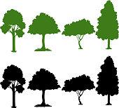 Set of silhouette plant illustration