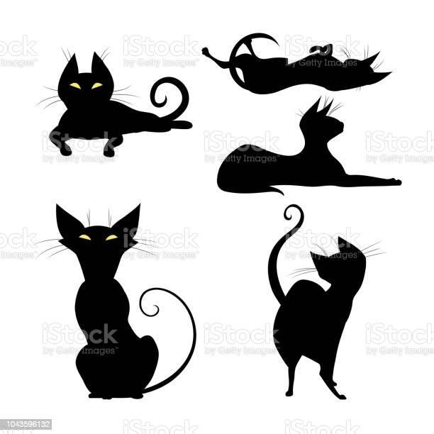 Set of silhouettes of black cat vector id1043596132?b=1&k=6&m=1043596132&s=612x612&h=uqdajiwttiuqeuovfsicss7l zrtgpmnfyi8af 4fs0=