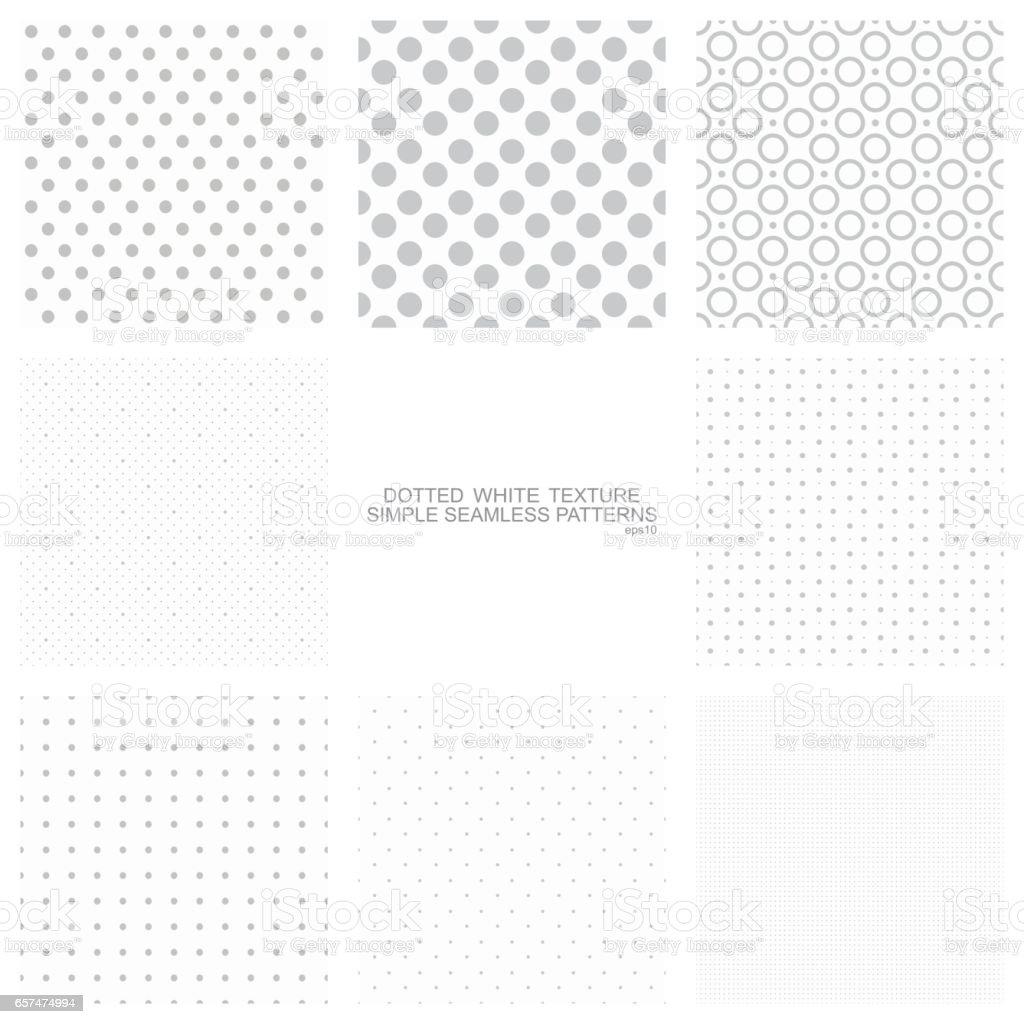 Conjunto De Patrones De Puntos Simples - Arte vectorial de stock y ...