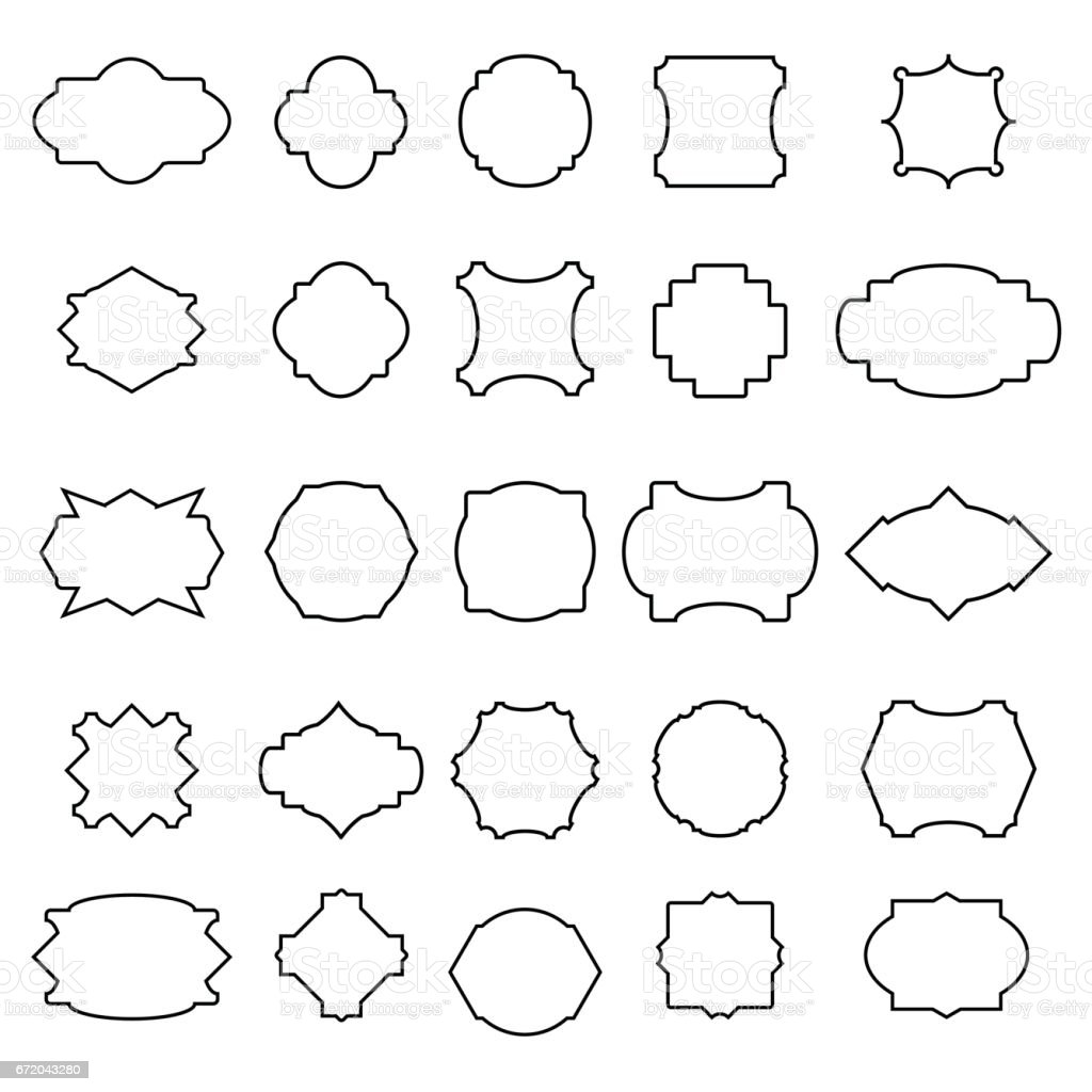 Set Of Simple Frames Stock Vector Art & More Images of Abstract ...