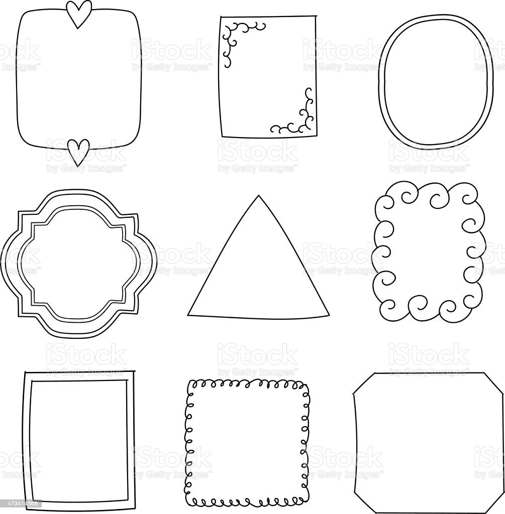 のシンプルな面白い黒色フレーム のイラスト素材 473414566 | istock