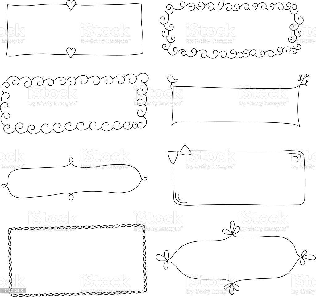 のシンプルな面白い黒色フレーム のイラスト素材 513313816 | istock