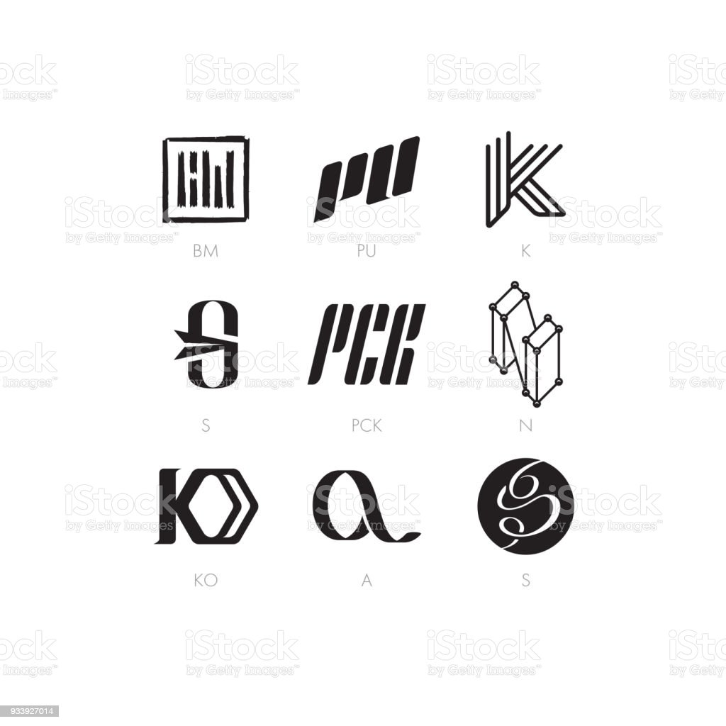A Set Of Simple Letter Characters On Different Topics Stock Vector