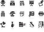 Set of simple office and work related icons