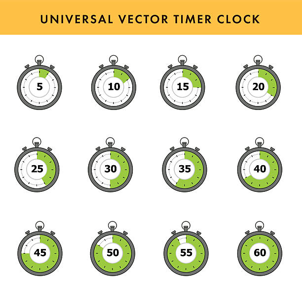set of simple timers. - single object stock illustrations, clip art, cartoons, & icons