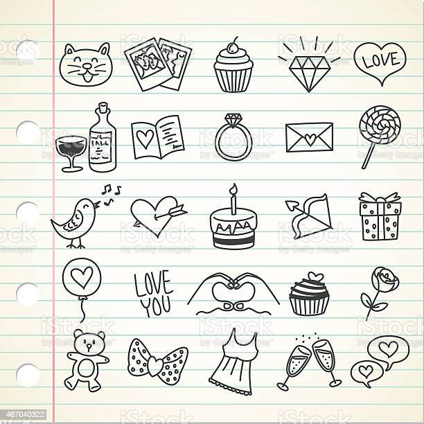Set of simple valentine icon in doodle style vector id467040322?b=1&k=6&m=467040322&s=612x612&h=ip lr1ko3 sxn6a3ggife1jeeh naxplh rgkhsp8xc=