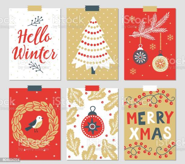 Set of six christmas greeting cards vector id804504224?b=1&k=6&m=804504224&s=612x612&h=kshv j128durgujeyzyqxvplersddhbtz05xy9vyrok=