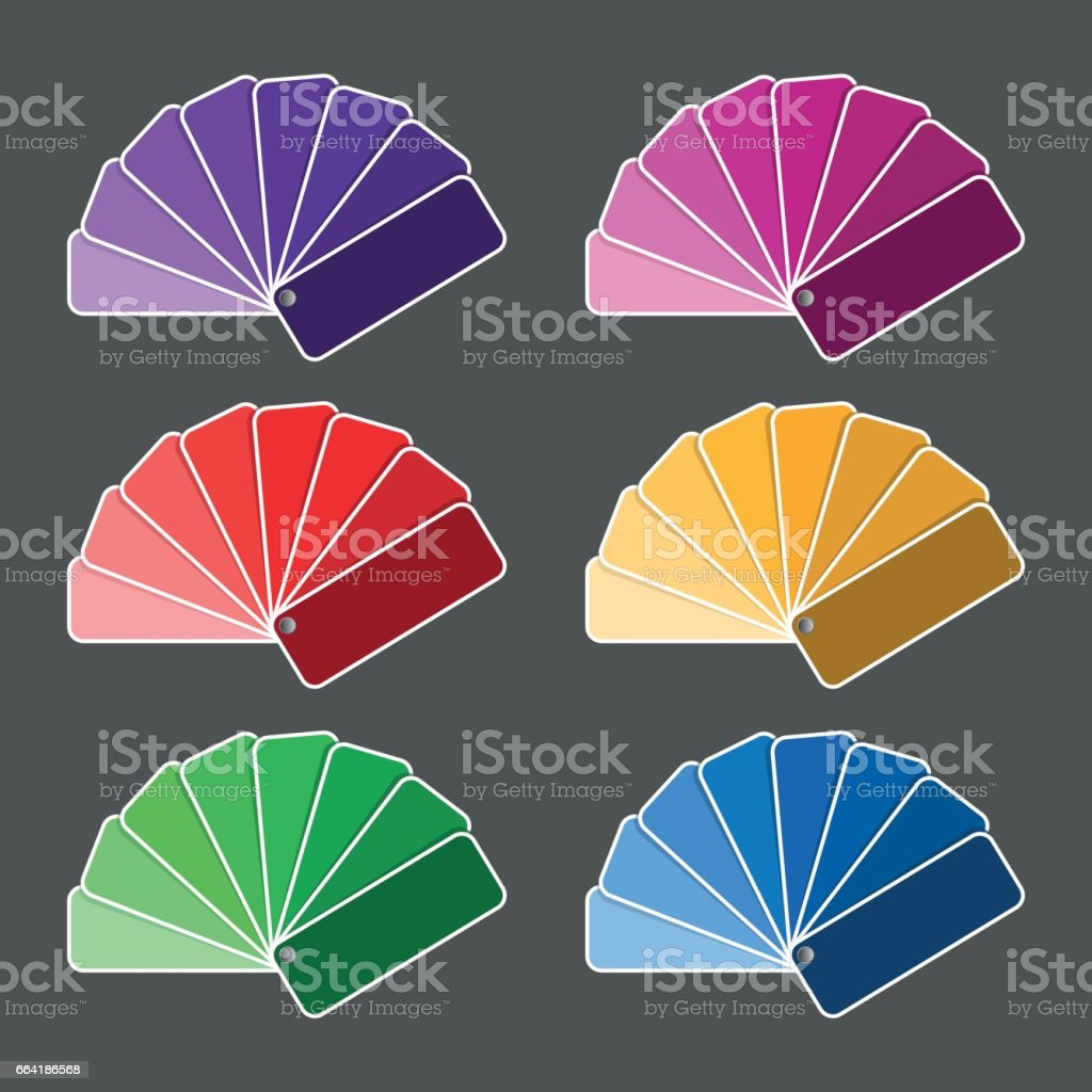Set of six color palette purple pink red yellow green nad blue set of six color palette purple pink red yellow green nad nvjuhfo Choice Image