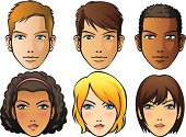 Vector Illustration - Faces of human