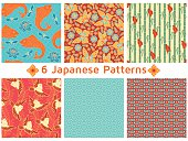 Set of six Japanese Patterns.