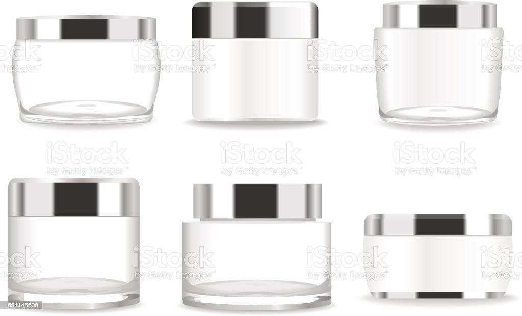 Set of six transparent cosmetic tubes. Vector royaltyfri set of six transparent cosmetic tubes vector-vektorgrafik och fler bilder på akrylglas