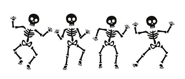 Set of skeleton for Halloween
