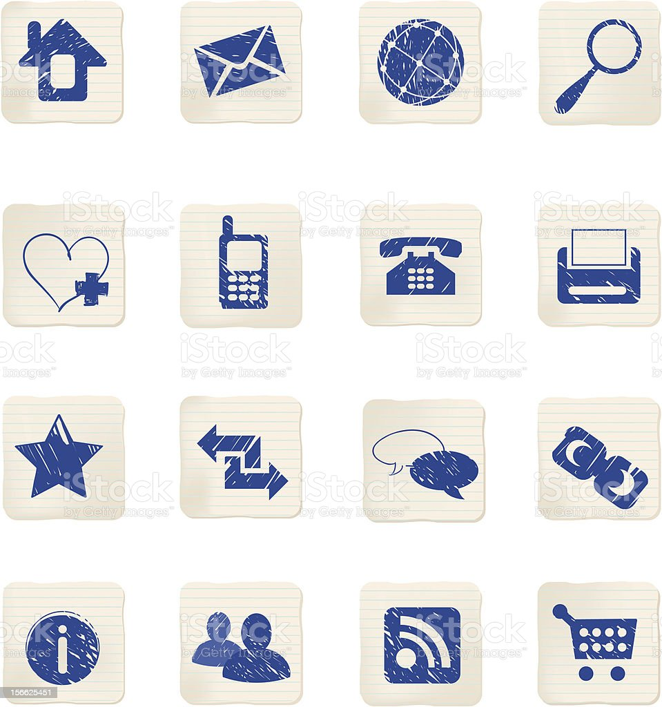 Set of sketched web icons royalty-free set of sketched web icons stock vector art & more images of arrow symbol