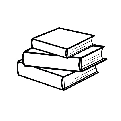 Set of sketches of books. Vector illustration.