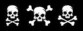 istock Set of skull and bones 870091178