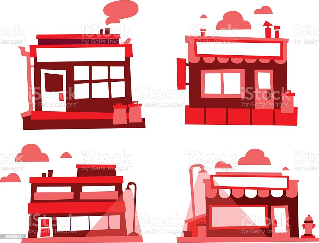 Set of small buildings royalty-free set of small buildings stock vector art & more images of abstract