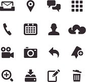Set of smartphone and computer icons
