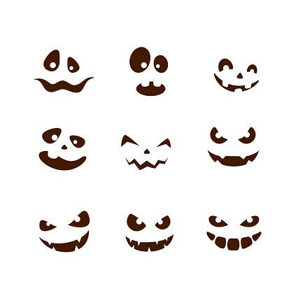 Set of smiles for Halloween