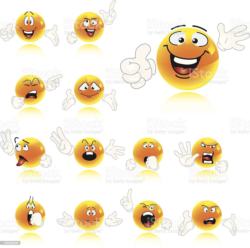 Set of Smiley Characters royalty-free set of smiley characters stock vector art & more images of anthropomorphic smiley face