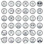 istock Set of smiley icons 483488230