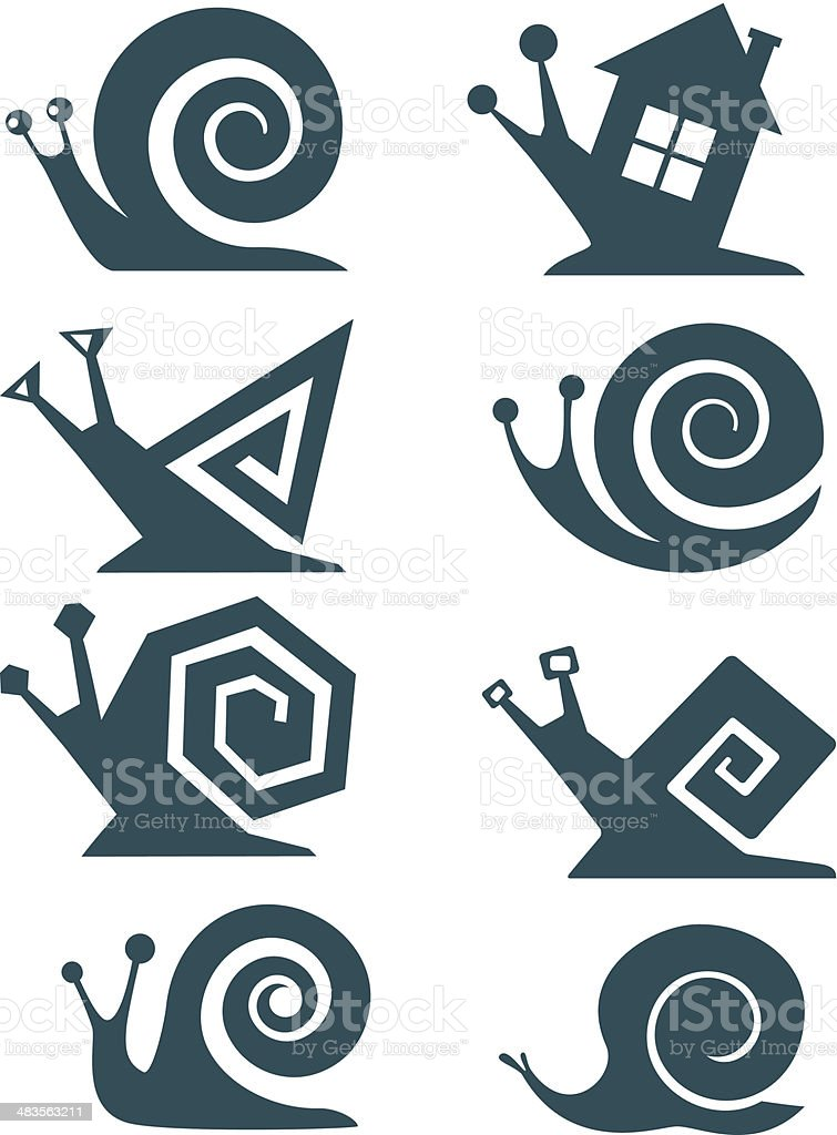 Set of snails royalty-free stock vector art