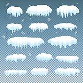 Set of snow cap