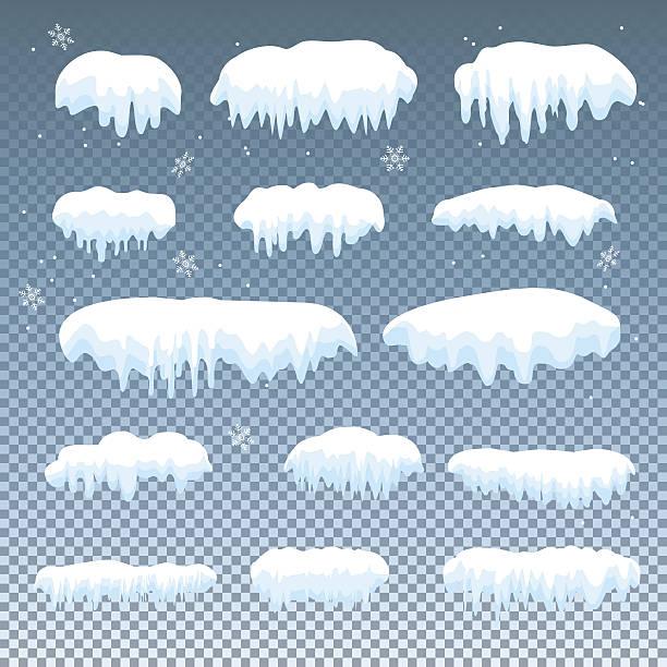 Set of snow cap – Vektorgrafik
