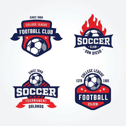 Set of Soccer Football Badge Designs