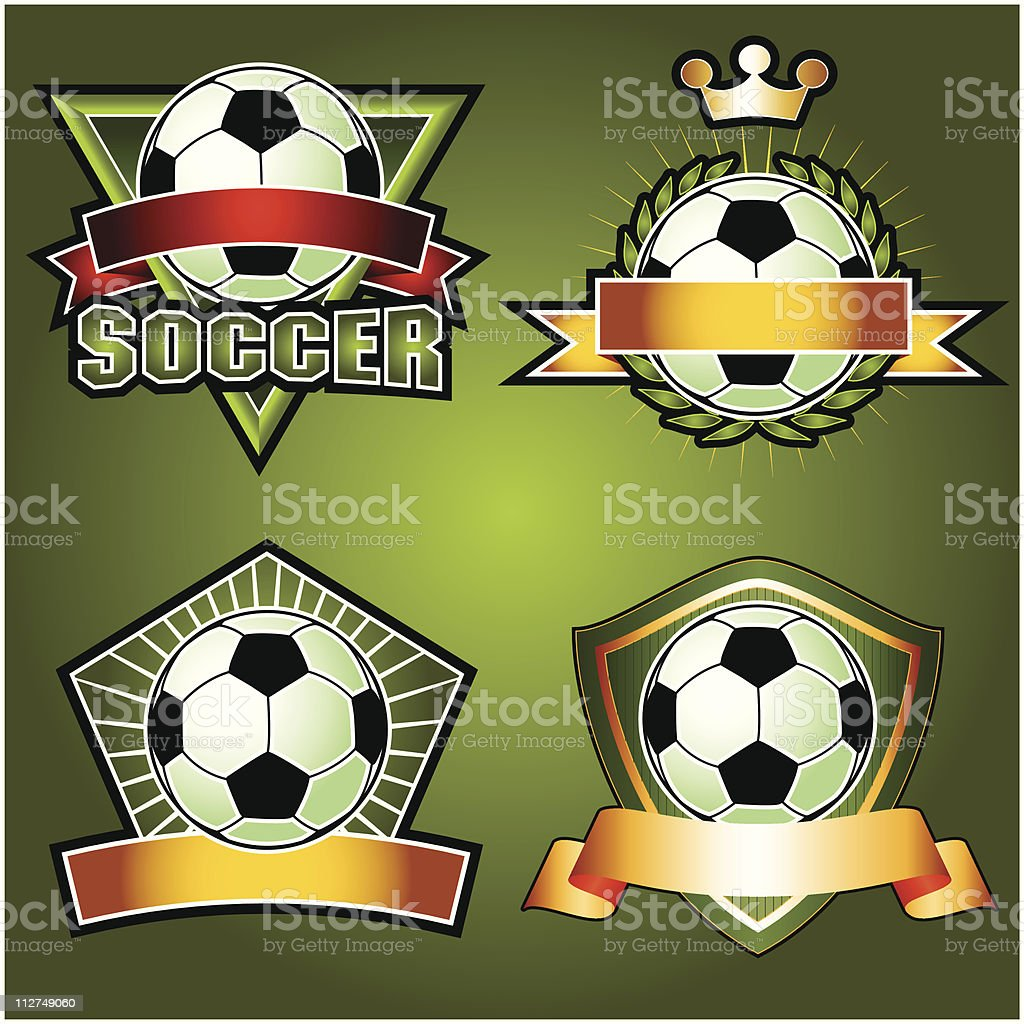 Set of Soccer Football Emblems royalty-free set of soccer football emblems stock vector art & more images of award