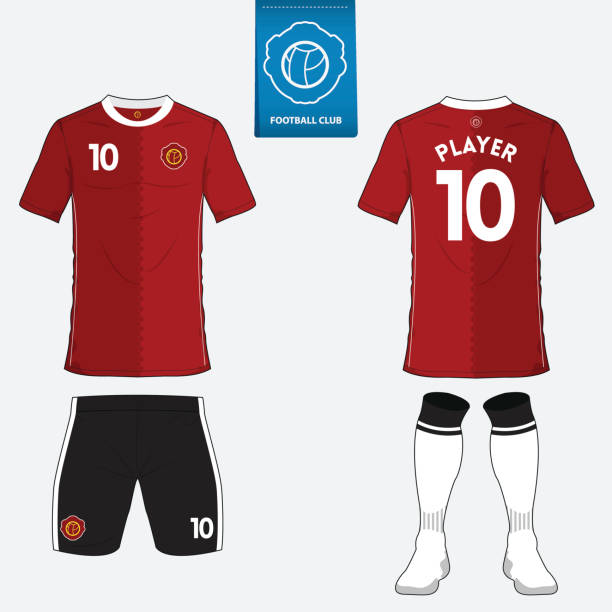 Set of soccer kit or football jersey template. Vector. vector art illustration