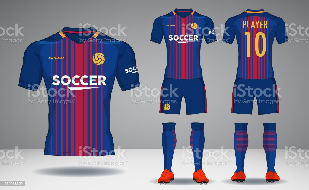set of soccer kit sport tshirt design stock vector art more images