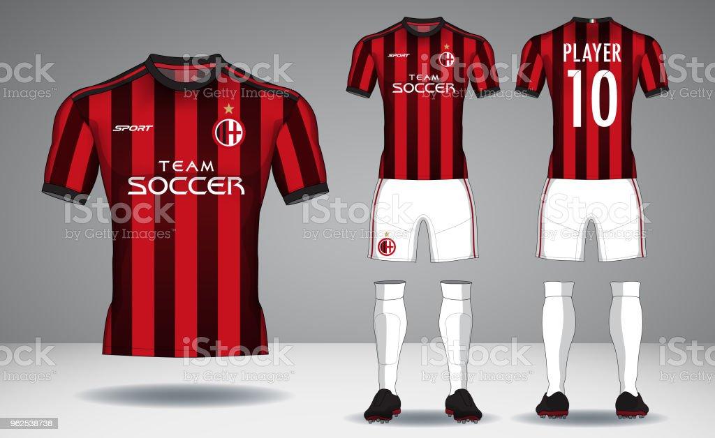 Conjunto de kit de futebol, desporto t-shirt design. - Vetor de Atrás royalty-free