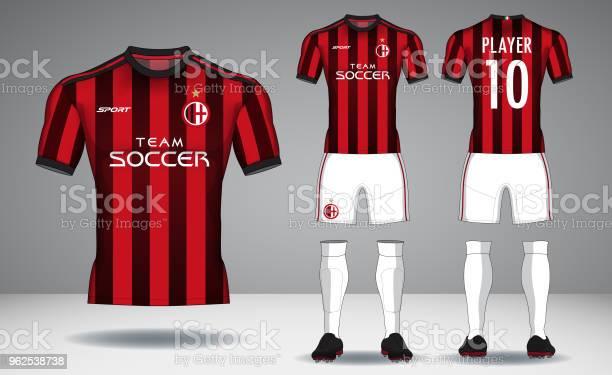 Vetores de Conjunto De Kit De Futebol Desporto Tshirt Design e mais imagens de Atrás