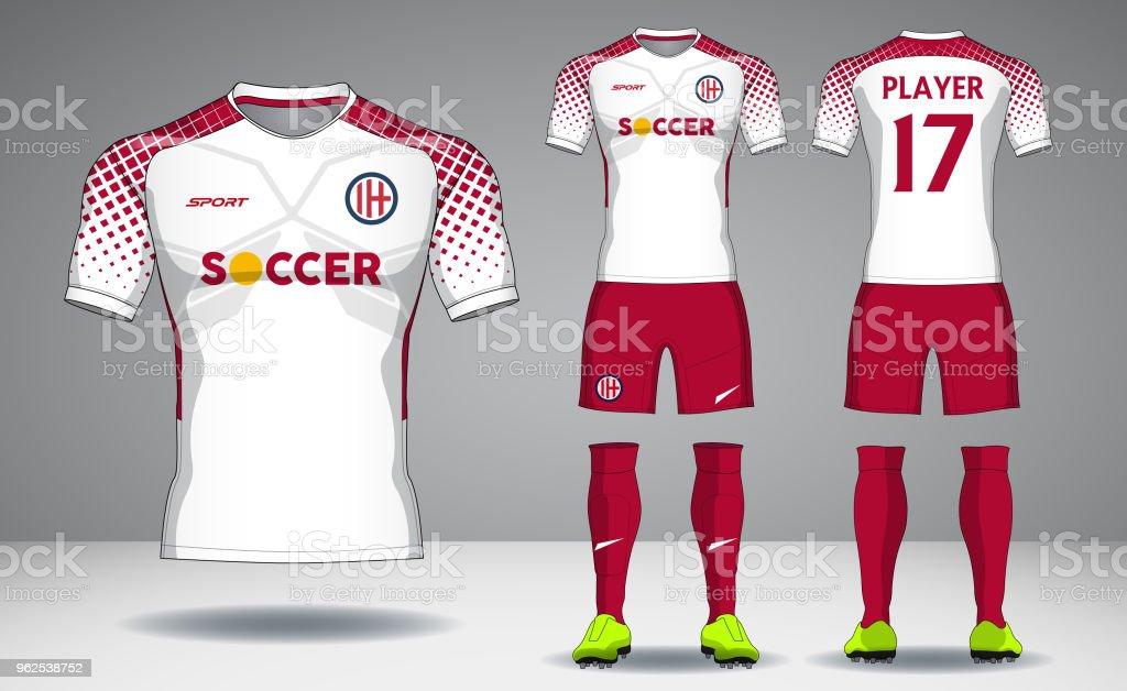 Set of soccer kit,  sport t-shirt design. - Royalty-free Back stock vector