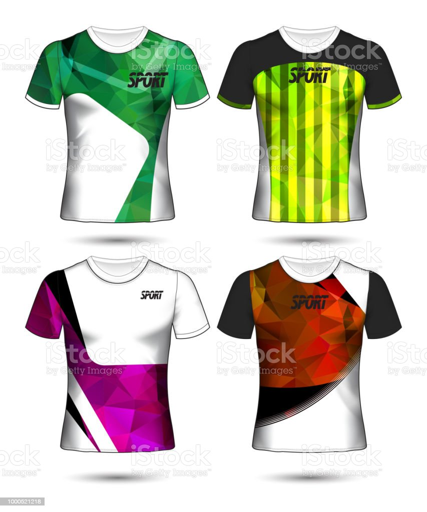 Set Of Soccer Or Football Jersey Template Tshirt Style Design Your ... 8299b652d
