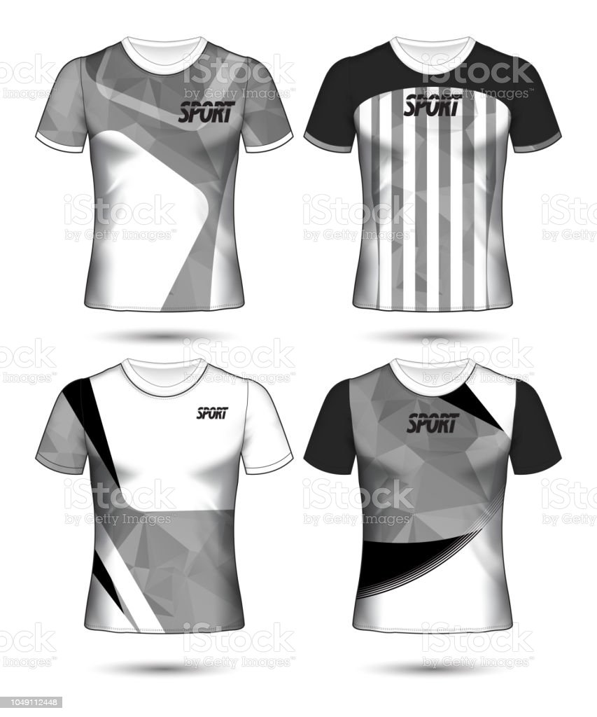 Set Of Soccer Or Football Jersey Template Tshirt Style Design Your Football Club Vector Illustration Stock Illustration Download Image Now Istock