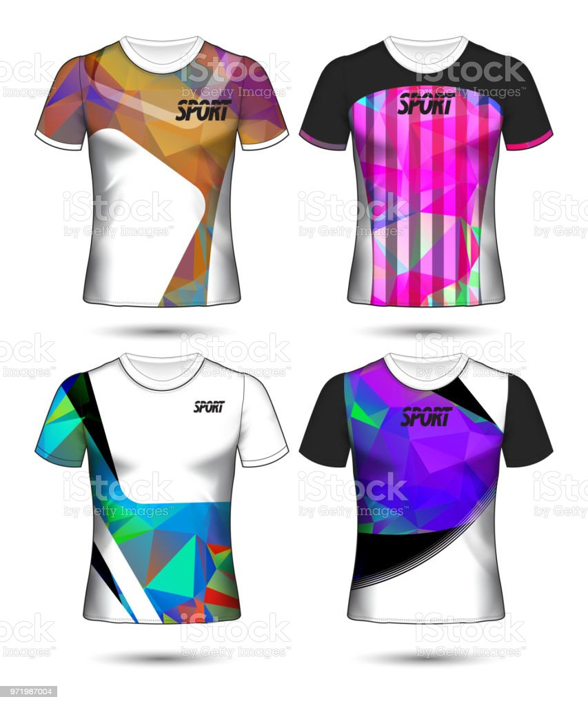 Set Of Soccer Or Football Jersey Template Tshirt Style Design Your