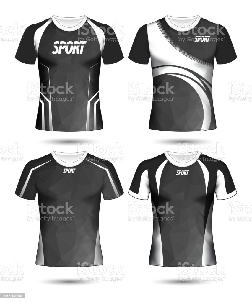 Polo Shirts Template Black