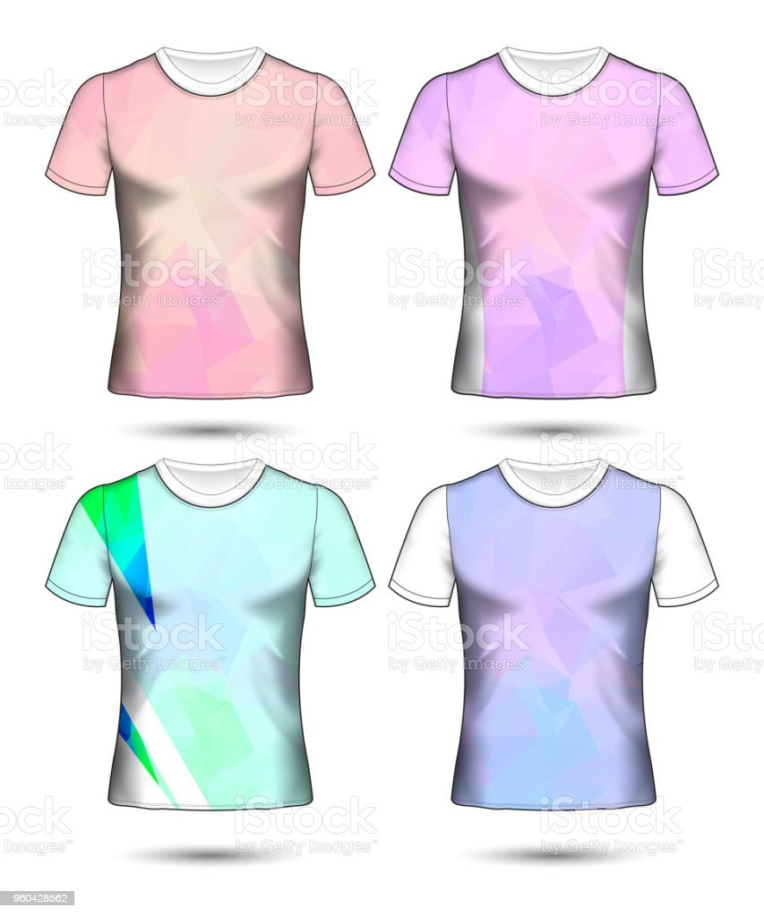 Set Of Soccer Sport Tshirt Layout Design Poly Template And Polo Shirt Vector Illustration Stock Illustration Download Image Now Istock