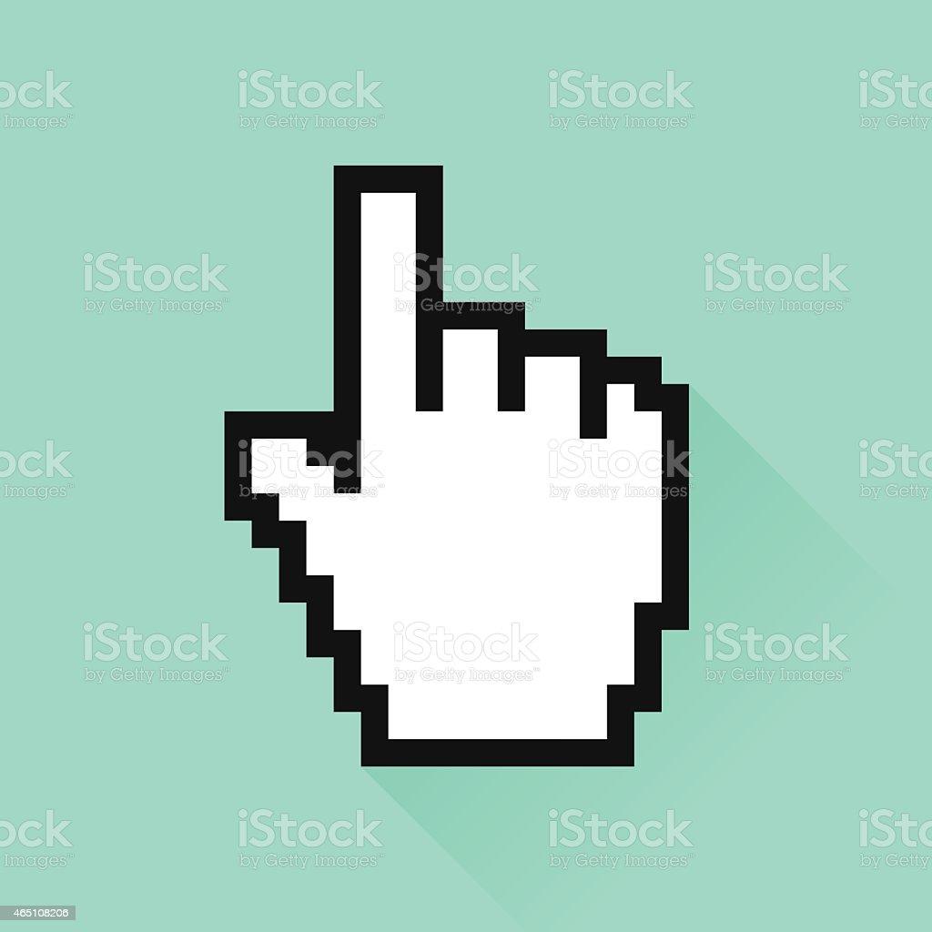 Set of social media icon. Сursor hand vector art illustration