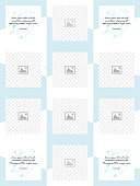 Set of social media collage.Vector cover. Design backgrounds for social media banner. Set of social media stories frame templates. Mock up for social media. Endless square pink puzzle layout for promotion.