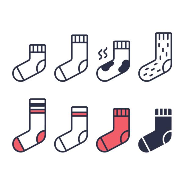 Set of socks icons vector art illustration