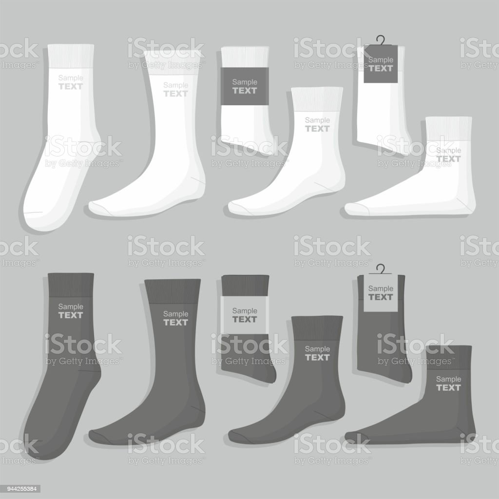 Set of socks vector art illustration