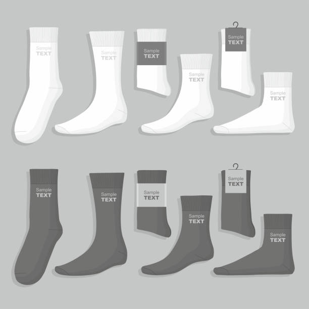 Set of socks vector art illustration