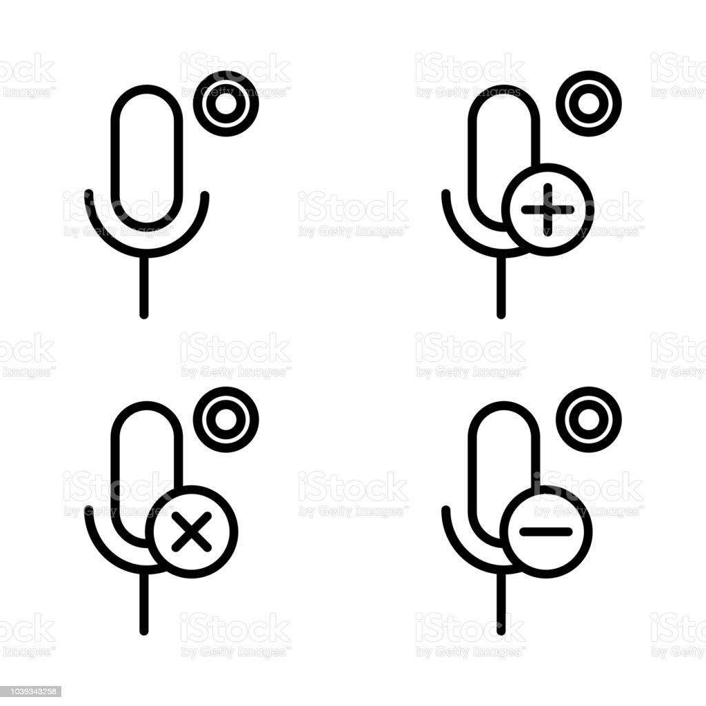 Set Of Sound Recording Icons Element Of Phone Icons For Mobile
