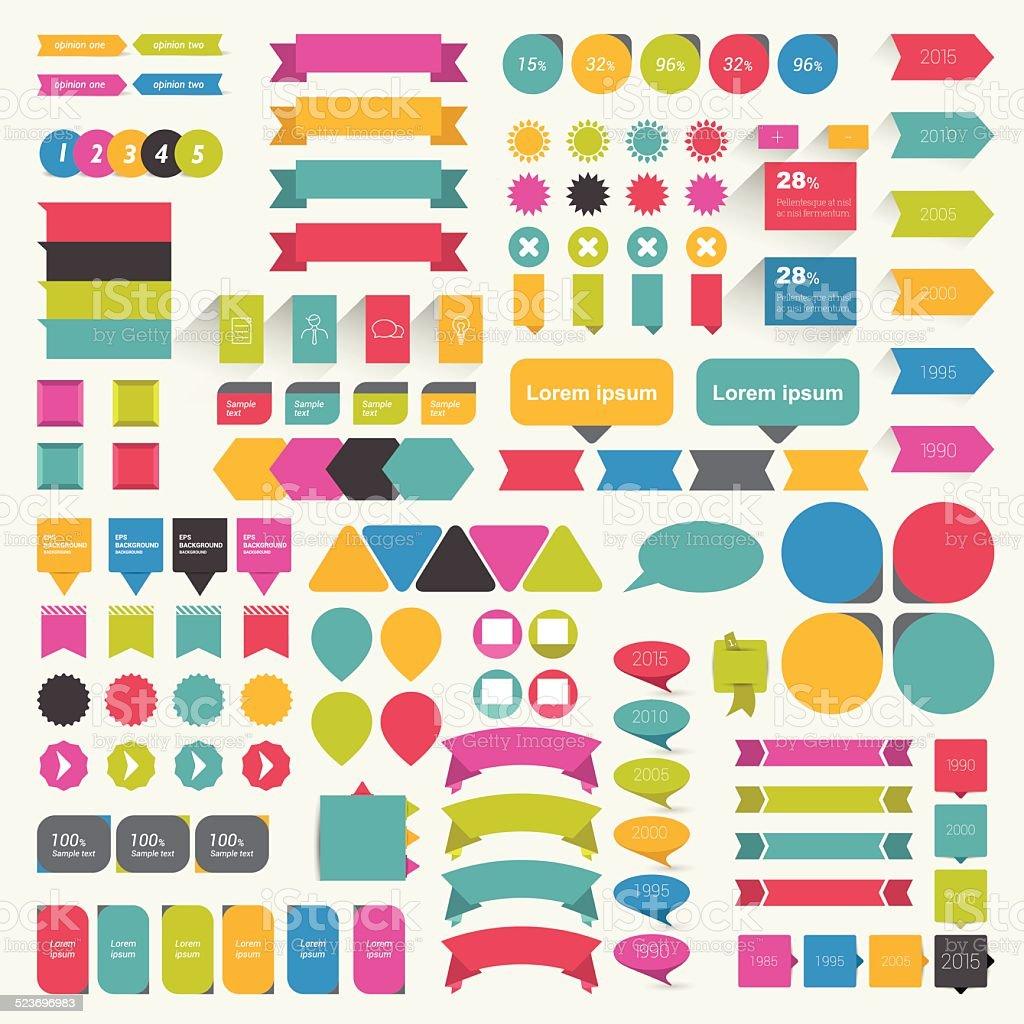 Set of speech bubbles. Various flat  talk balloons. vector art illustration